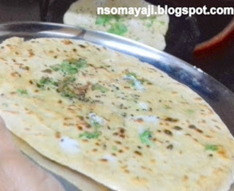 Wheat flour Aloo Naan / Indian Bread