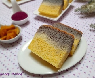 紫薯南瓜相思蛋糕 (Purple sweet potato and Pumpkin Ogura cake)