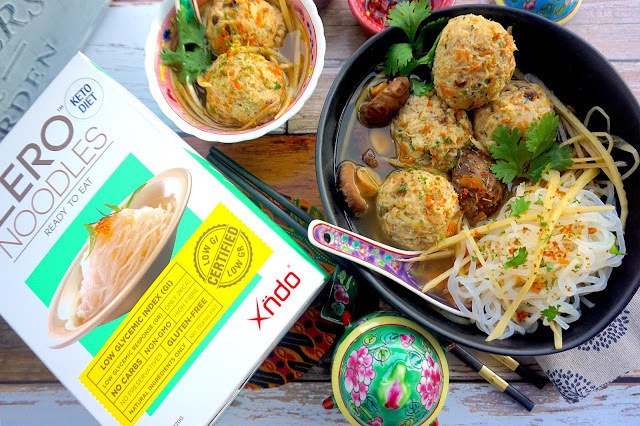 Minced Pork & Crab Meatballs with Konjac Noodles