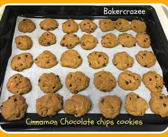 Cinnamon Chocolate Chips Cookies