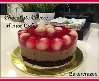 Chocolate Cheese Mouse Cake with jello topping
