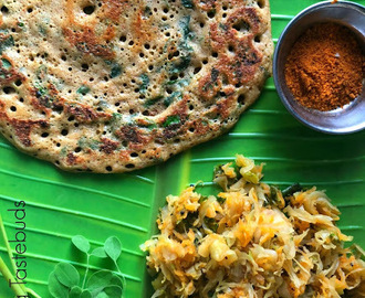 D for Drumstick leaves Adai | Murunga Elai Adai | Nuggesoppu Dose | Vegan & GF | A-Z Dosa series