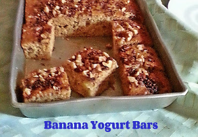 BANANA YOGURT  BARS RECIPE