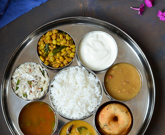 No Onion and Garlic Thali /Festive Thali