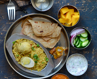 Simple Weekend Thali - Egg Biriyani - Pressure Cooker Method