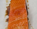 soy maple glazed grilled salmon