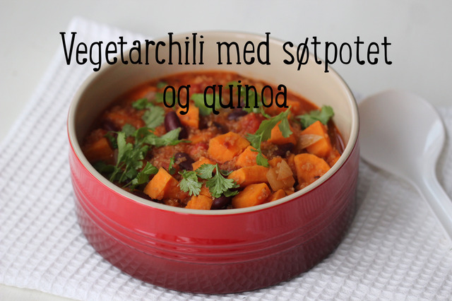 Vegetarchili med søtpotet og quinoa