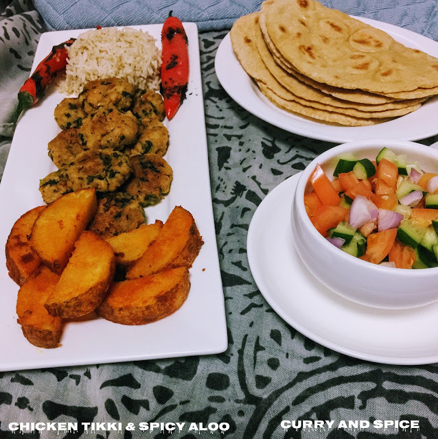 CHICKEN TIKKI & SPICY ALOO