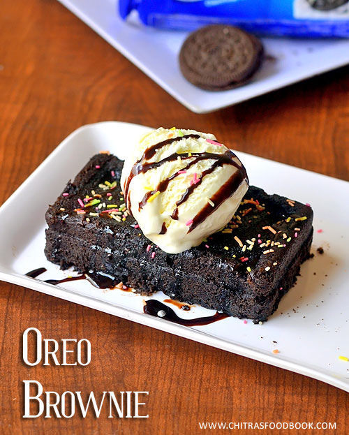 Microwave Oreo Cookies Brownie Recipe – Eggless Brownie In 2 Minutes