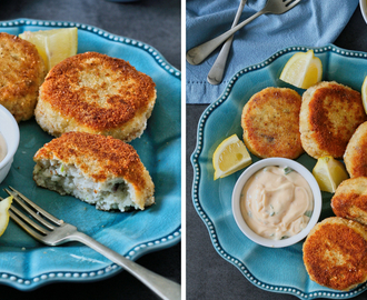Zesty coconut crumbed fish cakes