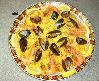 Traditionele paella