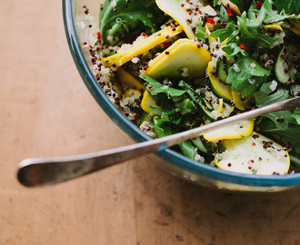 zucchini, quinoa + rocket salad w/ lemon, mint + chilli