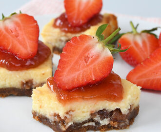 Philadelphia aardbeien cheesecake repen