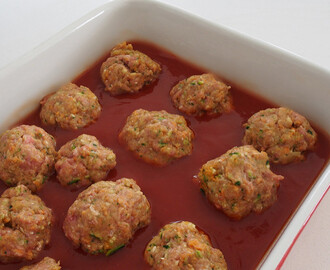 fast family dinner: beef + vegie meatballs