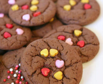 Valentine Cake Mix Cookies