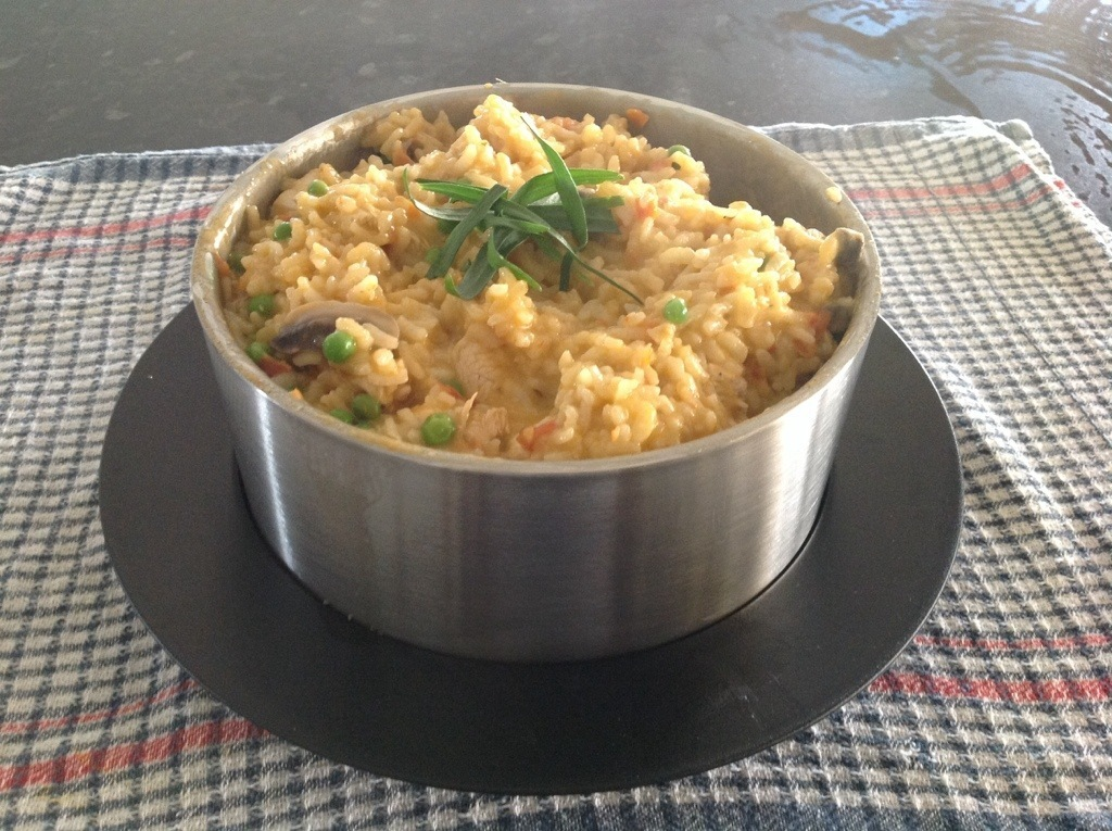 Risotto with chicken and sun dried tomato