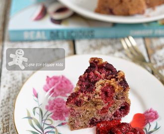 Reduced Fat Hazelnut and Raspberry Cake plus it is Gluten Free and Dairy Free too! (Real Delicious)