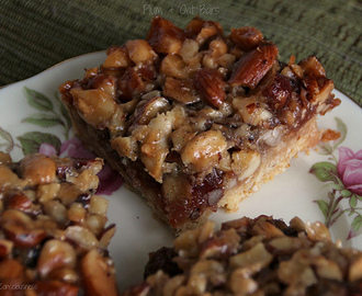 Plum & Oat Bars