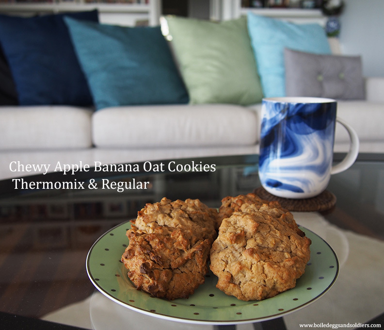 Chewy Apple Banana Oat Cookies – Thermomix & Regular