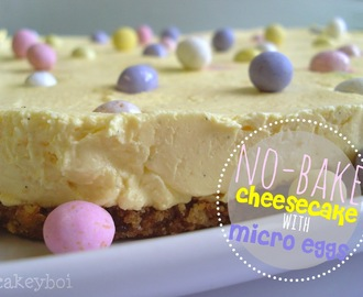 No-Bake Cheesecake with Micro Eggs