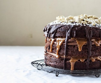 Chocolate and Coconut Cake with Dulce De Leche and Cashews