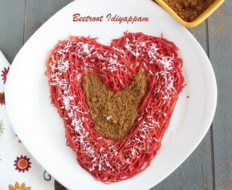 Beetroot Idiyappam | Heart Shape Idiyappam | Breakfast recipes