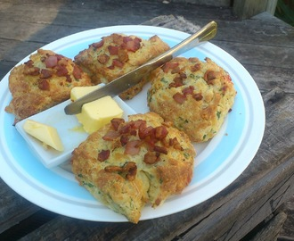 Savoury scones - Saturday morning breakfast