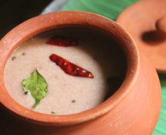 Spicy Ragi Porridge Recipe - Ragi Kanji Recipe - Finger Millet Salty Porridge Recipe