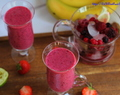 Banana berry pineapple smoothie