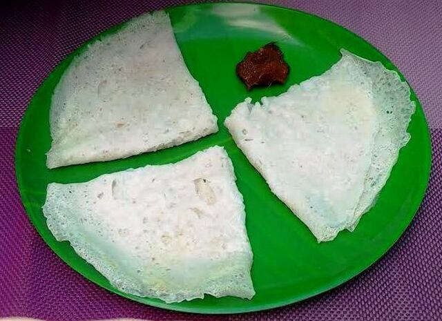 Neer Dosa (Soft and Fluffy Rice Crepe)