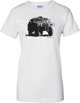 US Army Humvee - bepansrade militärfordon - damer T Shirt