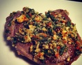 Herb & almond crusted lamb steak