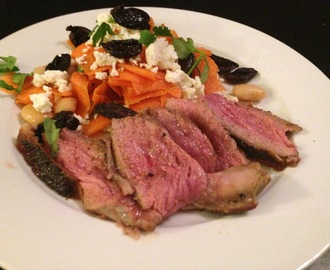 Rocking The Warm Winter Salads: Moroccan Lamb With Fried Black Olives