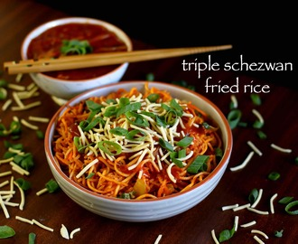 schezwan rice recipe | triple schezwan fried rice | triple schezwan rice