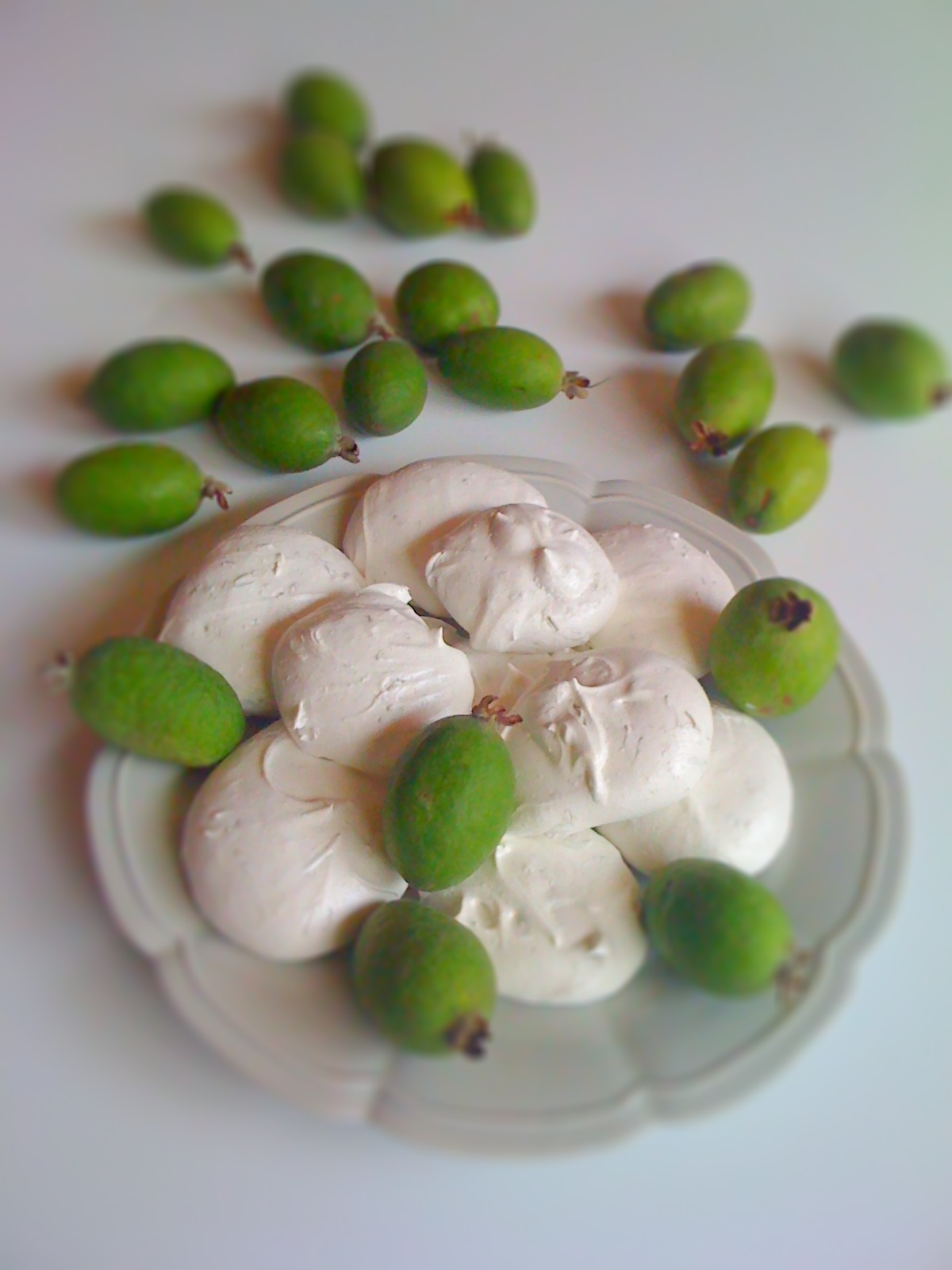 Feijoa zest meringues for Sweet New Zealand