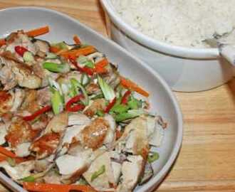 Chinese Steamed Chicken with Vegetables