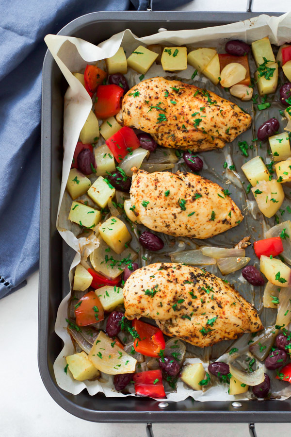 One-Pan Mediterranean Roast Chicken