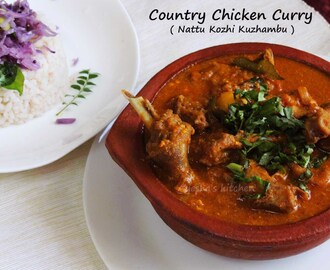 CHICKEN CURRY - COUNTRY CHICKEN CURRY RECIPE / NAATU KOZHI KULAMBU