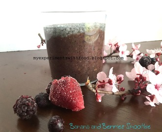 Healthy Banana and Mixed Berries smoothie