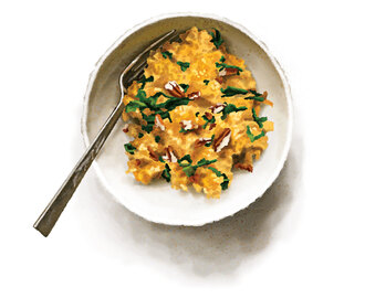 Quick Pumpkin and Kale Risotto + Arancini