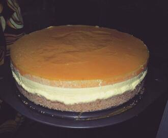 Mango Cheesecake...No Bake & Eggless