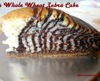 Eggless Zebra Cake (with Whole Wheat Flour)