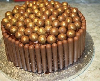 Bucket of Maltesers Chocolate Birthday Cake