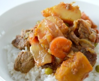 Slow Cooker Curried Beef and Vegetables