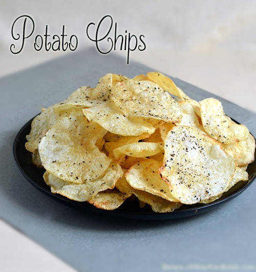 POTATO CHIPS RECIPE-HOW TO MAKE POTATO CHIPS AT HOME