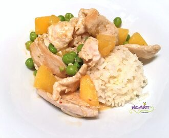 Poulet- Curry mit Kaki