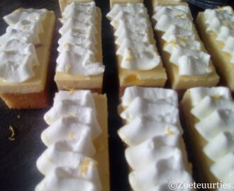 sinaasappel cheesecake gebakjes