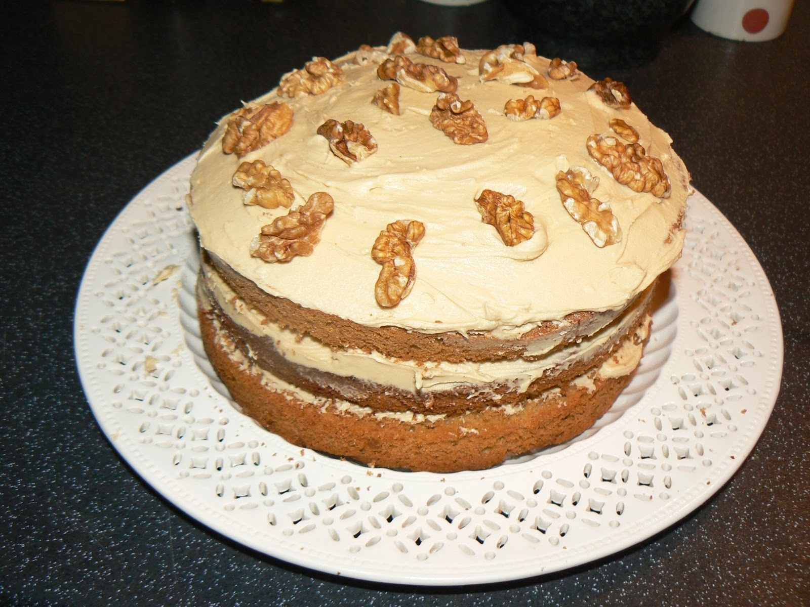 Cravings, Celebrations and Vanilla & Walnut Latte Cake!!
