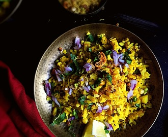 Indori Poha {GlutenFree + Vegan}