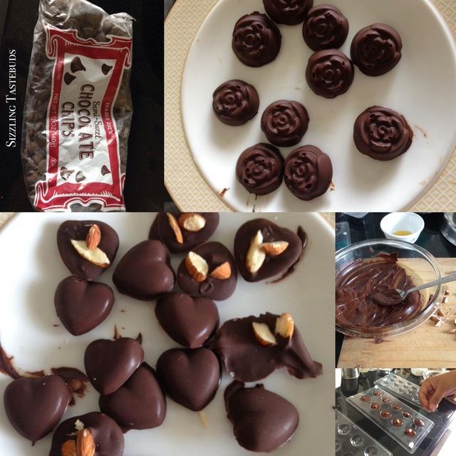 How to make Nutty Homemade Chocolates - easy #Valentines Day Treat